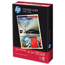 Hewlett Packard HP A4 100gsm White Smooth Colour Laser Paper Ref HCL0324 - 500 Sheets