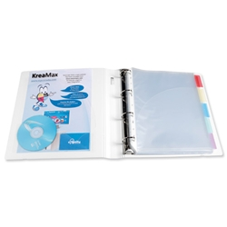 Exacompta KreaMax Polypropylene Ring Binder 4 O-Ring Capacity 40mm A4 Maxi White Ref 51764E [Pack 10]
