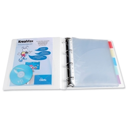 Exacompta KreaMax Polypropylene Ring Binder 4 O-Ring Capacity 25mm A4 Maxi White Ref 51762E - Pack 10