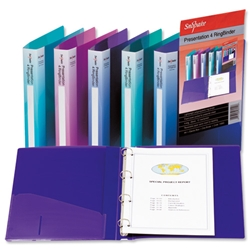 Snopake Presentation Ring Binder Polypropylene 4 O-Ring 45mm Size A4 Electra Blue Ref 15554 - Pack 10