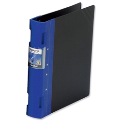 Guildhall GLX Ergogrip Binder Capacity 400 Sheets 4x 2 Prong 55mm A4 Blue Ref 4532Z - Pack 2