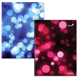 Silvine Perfecto Bound Notebook 160pp A4 Plus Pink and Blue Bubbles Ref PERA4BU - Pack 5 - Item image