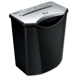 Fellowes P-38 Personal Shredder 6mm Strip Cut 19 Litre DIN2 8 Sheet Ref 3413401 - Item image