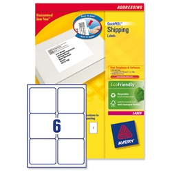 Avery L7166 Laser Printer Labels 99.1x93.1mm Ref L7166-250 - Pack 1500