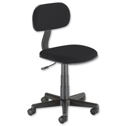 Trexus Intro Typist Chair Back H220mm Seat W410xD390xH405-520mm Black