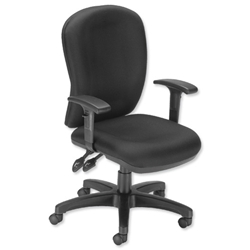 Influx Vitalize High Back Asynchronous Task Chair Seat W520xD520xH420-510mm Black Ref 11191-02ABlk - Item image