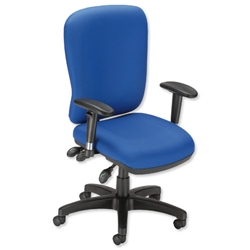 Influx Vitalize Maxi Asynchronous Task Chair Seat W520xD520xH420-510mm Blue Ref 11190-01ABlu - Item image
