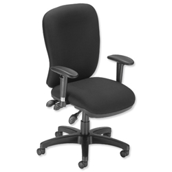 Influx Vitalize Maxi Asynchronous Task Chair Seat W520xD520xH420-510mm Black Ref 11190-01ABlk - Item image