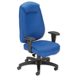 Influx Vitalize Executive Task Chair Synchronous Seat W520xD520xH420-510mm Blue Ref 11188-01ABlu - Item image