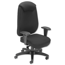 Influx Vitalize Executive Task Chair Synchronous Seat W520xD520xH420-510mm Black Ref 11188-01ABlk - Item image