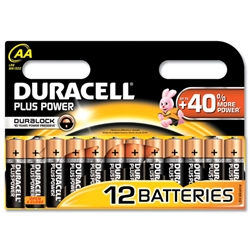 Duracell Plus Battery Alkaline 1.5V AA Ref MN1500B12 - Pack 12