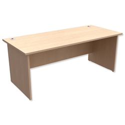 Trexus Classic Desk Panelled Rectangular W1800xD800xH725mm Maple - Item image