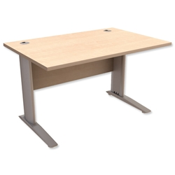 Sonix Premier Cantilever Desk Rectangular W1600xD800xH725mm Maple