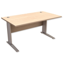 Sonix Premier Cantilever Desk Rectangular W1400xD800xH725mm Maple