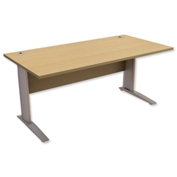 Sonix Premier Cantilever Desk Rectangular W1200xD800xH725mm Oak
