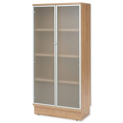 Adroit Virtuoso Storage Unit Glass Tall W800xD420xH1775mm Cherry Marbella