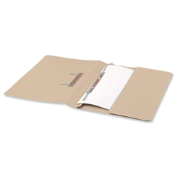 5 Star Transfer Spring File with Pocket 285gsm 38mm Foolscap Buff [Pack 25]