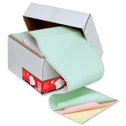 5 Star Office Listing Paper 4-Part NCR Box 11inchx241mm Plain/Perf - 500 Sheets