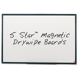 5 Star Office Drywipe Board Magnetic Lightweight with Fixing Kit and Pen Tray W1800xH1200mm