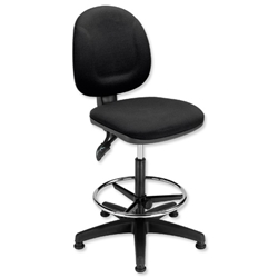 Trexus Plus Medium Back High Rise Chair Seat W460xD450xH590-860mm Black