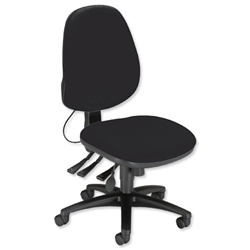 Sonix Support S2 Chair Asynchronous Lumbar-adjust High Back Seat W480xD450xH460-570mm Onyx Black