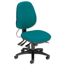 Sonix Support S3 Chair Asynchronous Lumbar-adjust High Back Slide Seat W480xD450xH460-570mm Green
