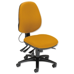 Sonix Support S3 Chair Asynchronous Lumbar-adjust High Back Slide Seat W480xD450xH460-570mm Yellow