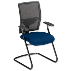 Adroit Zeste Visitors Chair Cantilever High Mesh Back H520mm Seat W500xD470xH470mm Ocean