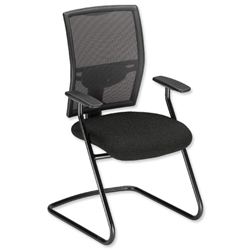 Adroit Zeste Visitors Chair Cantilever High Mesh Back H520mm Seat W500xD470xH470mm Onyx