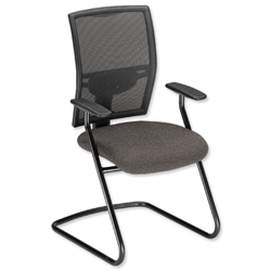 Adroit Zeste Visitors Chair Cantilever High Mesh Back H520mm Seat W500xD470xH470mm Shadow