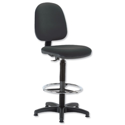 Trexus Office Operator Chair High Rise Medium Back H300mm W460xD430xH680-820mm Black