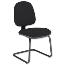 Trexus Office Visitors Chair Medium Back H300mm Seat W460xD430xH480mm Black