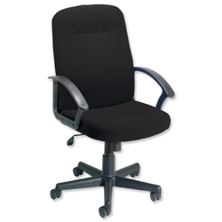 Trexus High Back Manager Armchair W520xD420xH420-520mm Backrest H620mm Black