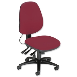 Sonix Jour J2 High Back Office Chair Seat W480xD450xH460-570mm Burgundy