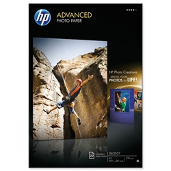 Hewlett Packard HP Advanced A3 Glossy Photo Paper Ref Q8697A - 20 Sheets