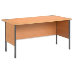 Trexus Basics Desk Rectangular with Graphite Legs 1500mm W1500xD800xH725 Beech