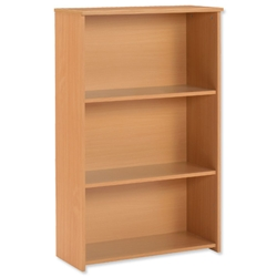 Trexus Basics Budget Bookcase Medium Height W740xD340xH1222mm Beech