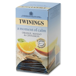 Twinings Infusion Tea Bags Individually-wrapped Orange Mango Cinnamon Ref A03004 - Pack 20