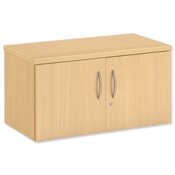 Trexus Modular Storage System Standard Cupboard Unit Lockable W750xD400xH411 Maple - Item image
