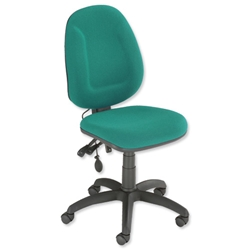 Trexus Plus High Back Asynchronous Posture Chair Seat W460xD450xH460-590mm Back H510mm Green - Item image