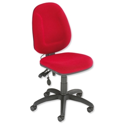 Trexus Plus High Back Asynchronous Posture Chair Seat W460xD450xH460-590mm Back H510mm Red - Item image