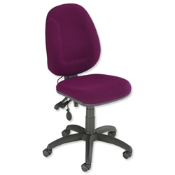 Trexus Plus High Back Asynchronous Posture Chair Seat W460xD450xH460-590mm Back H510mm Purple - Item image