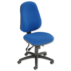 Trexus Heavy Duty Marlborough 24/7 Operator Chair Seat W500xD490xH460-580mm with Seat Slide Blue