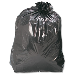 5 Star Bin Bags Medium Duty 100 Gauge 457x737x991mm Black Ref 465144 - Pack 200