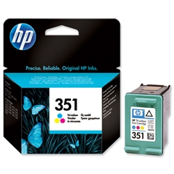 Hewlett Packard HP No. 351 Tri-colour Inkjet Cartridge Ref CB337EE