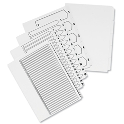 Concord A4 10-Part White Board Dividers Ref 75801 - Pack 10