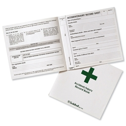 Guildhall Accident Book 20 Pages 210x200mm Green and White Ref T44Z - Pack 5