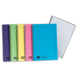 Europa Notemaker Book Sidebound Ruled 90gsm 120 Pages A4 Assorted C Ref 3154Z - Pack 10