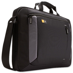 Case Logic 16 Inch Laptop Case with Shoulder Strap Black Ref VNA210 - Item image