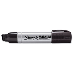 Sharpie Metal Permanent Marker Large Chisel Tip 14.8mm Line Black Ref S0949850 - Pack 12